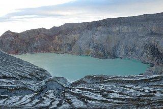 Вулкан Иджен вулкана Иджен Синим пламенем: покорение вулкана Иджен на острове Ява Kislotnoe ozero Kavakh Idzhen 4