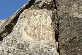 Петроглифы в Гобустанском национальном парке, датируемые 10-м тысячелетием до нашей эры